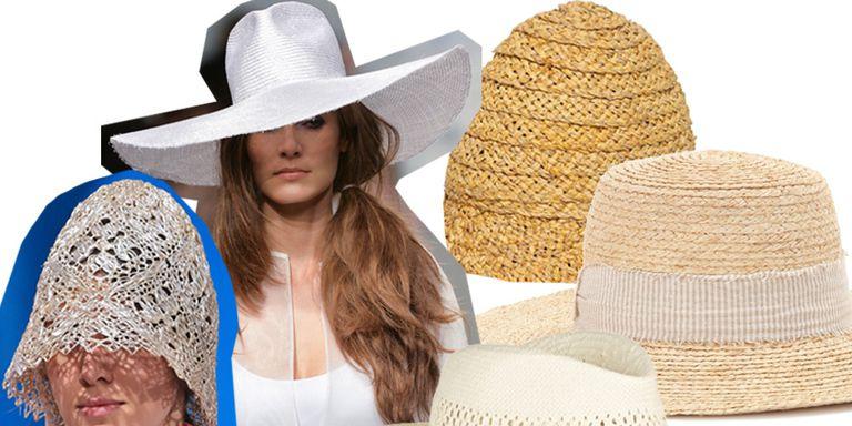 varie forme del cappello di paglia