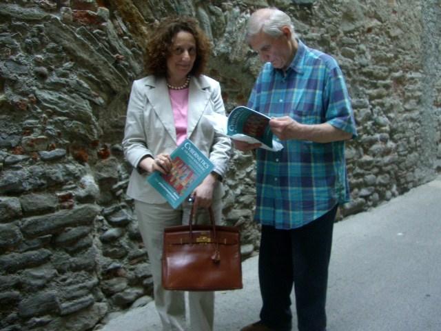 Il pittore Ruffo Caselli insieme a Carmen Gallo
