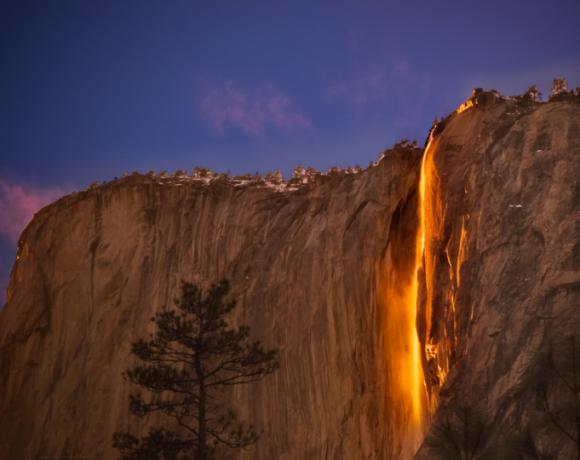 Cascata di fuoco in California