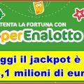 SuperEnalotto: il 6 non esce e il jackpot sale!