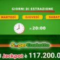 SuperEnalotto: Jackpot alle stelle! In palio 117.200.000 di euro