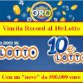 10eLotto, Vincita Record da 500.000 euro