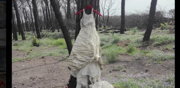 Un abito da sposa abbandonato sul Vesuvio, quale storia nasconde?