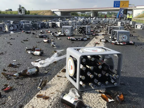 Incidente stradale birra