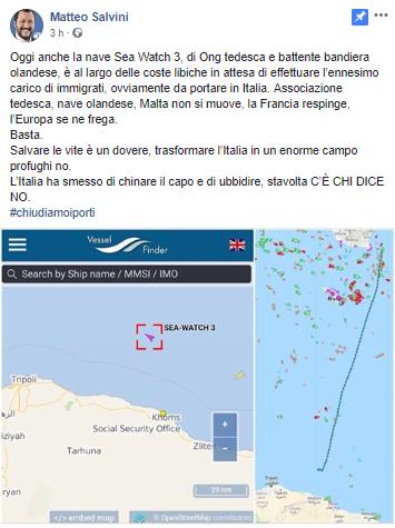 Salvini si scaglia contro Malta
