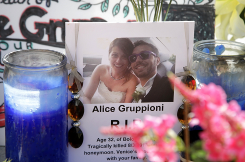Sposa Alice Gruppioni incidente