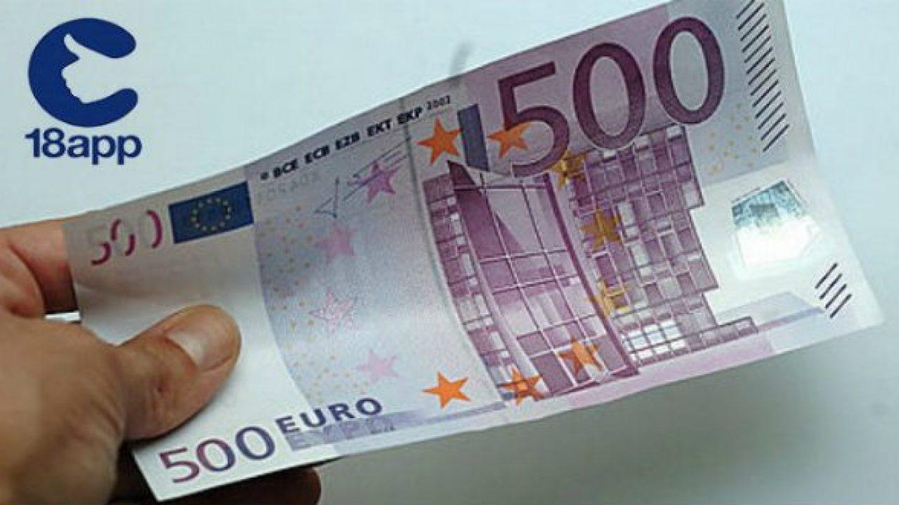 Risultato immagini per 500 euro 18APP