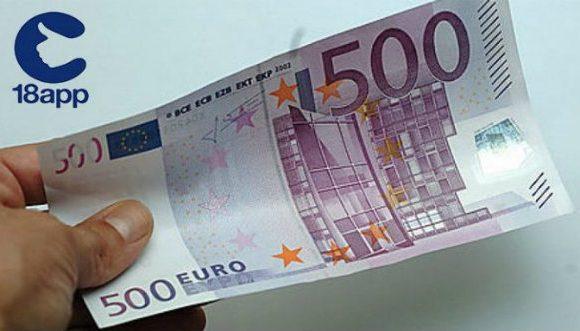bonus 18 anni 500 euro