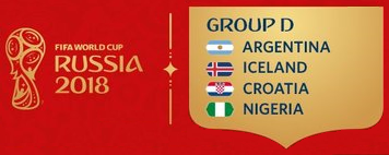 Girone D Mondiali 2018