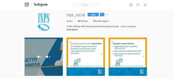 Inps apre un profilo su instragam, per incrementare la comunicazione con il cittadino social
