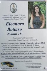 BAGNOLI DI SOPRA- ELEONORA BOTTARO , MORTA DI LEUCEMIA.