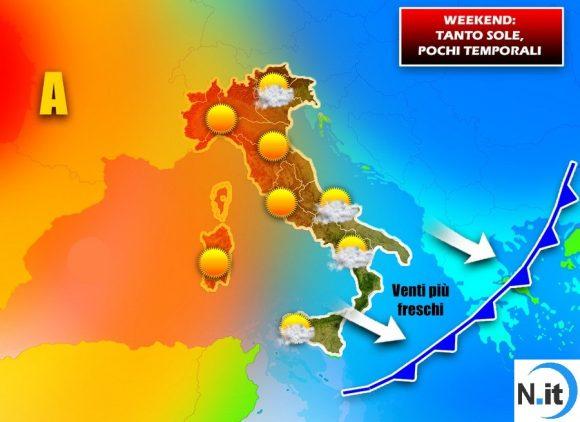 Previsioni Meteo: sabato 7 e domenica 8 luglio, sarà un weekend all'insegna dell'estate
