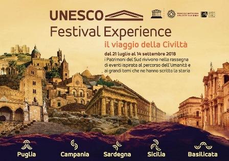 Turismo: Progetto Rete siti UNESCO per il rilancio delle regioni del sud