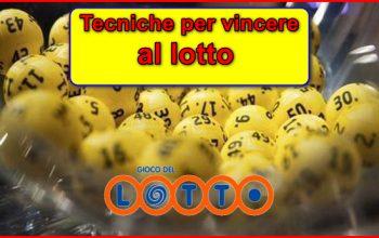 Tecniche per vincere al lotto