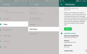 backup WhatsApp con Google Drive