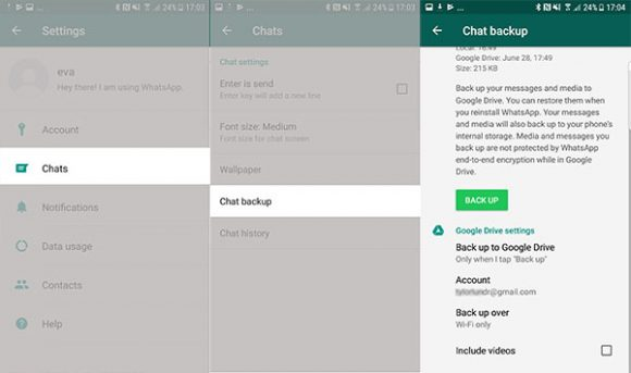 WhatsApp backup delle chat gratis con Google, ecco come fare
