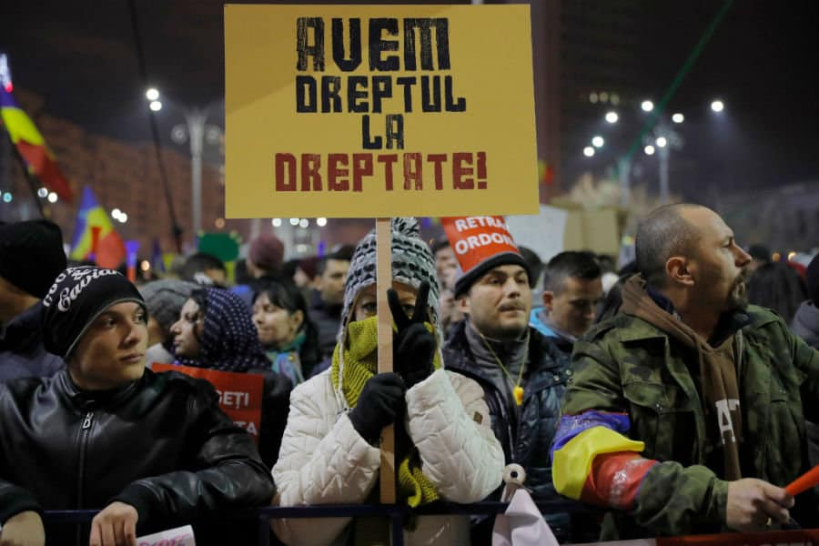 protesto a Bucharest