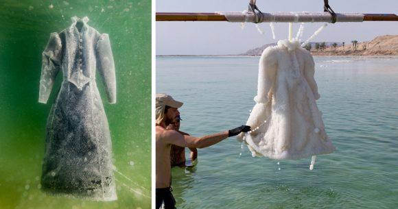 La sorprendente storia dell'abito da sposa fatto di sale
