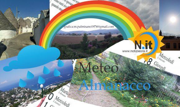 Previsioni meteo e l'almanacco per martedì  18 settembre
