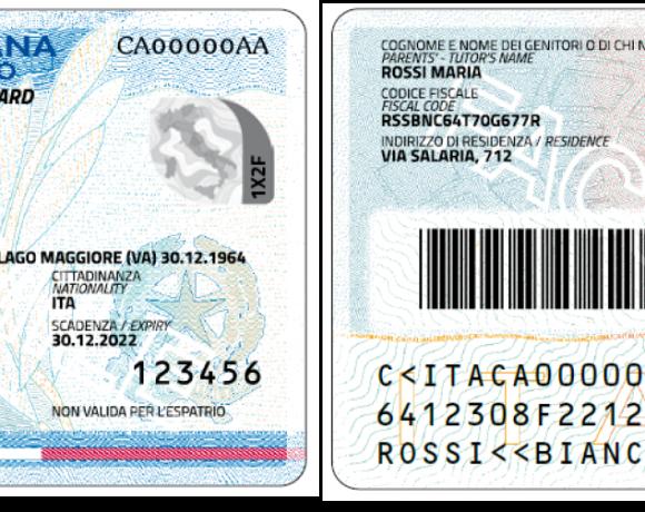 carta d'identità formato elettronico