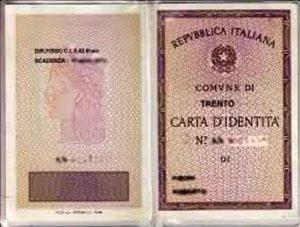 carta d'identità formato cartaceo
