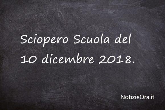 Sciopero scuola del 10 dicembre, cosa c'è da sapere