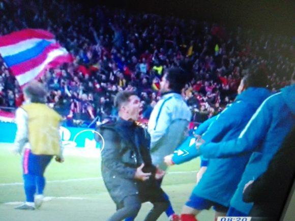 Atletico Madrid-Juventus 2-0: Bufera dell'esultanza volgare di Simeone