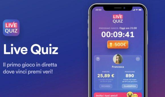 Live Quiz, l'app italiana con cui vincere premi veri