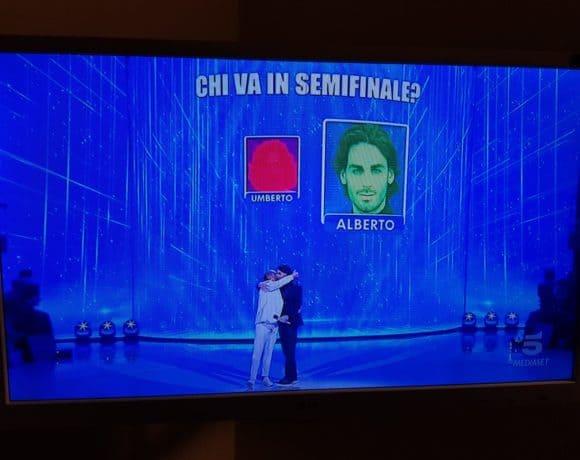 Amici18 vince la sfida Alberto