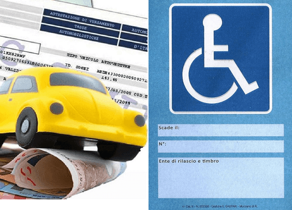 Bollo auto e pass disabile