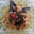 Spaghetti alle cozze con punte di asparagi