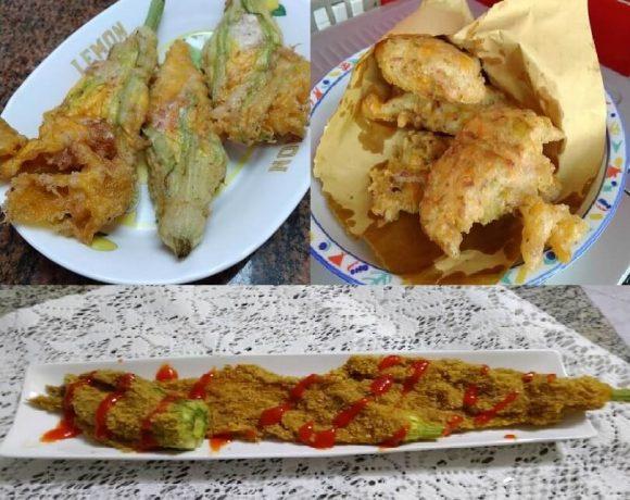 Tre ricette di fiori di zucca