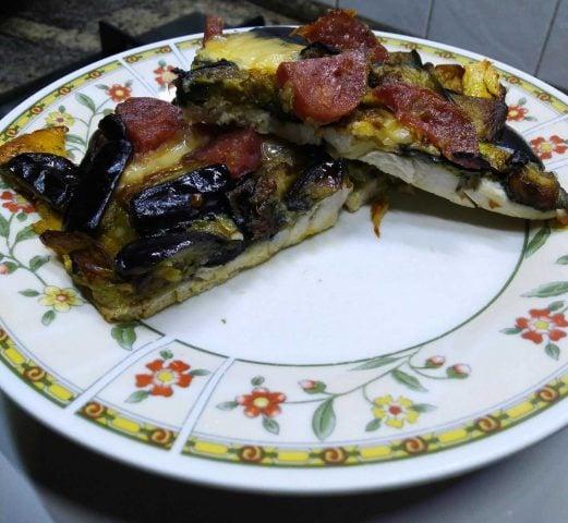 Tortino di pollo e melanzane, ricetta per 4 persone