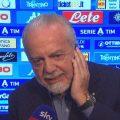 Napoli, De Laurentiis: bufera con arbitro e VAR dopo l'Atalanta