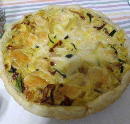Torta salata alle verdure, da servire come antipasto o apericena