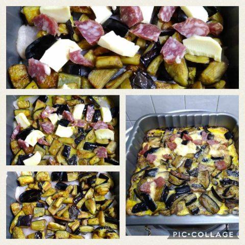 tortino di pollo e melanzane preparazione