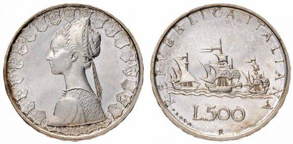 500 lire in argento con caravelle: la moneta può valere fino a 12mila euro
