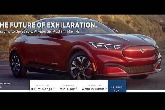 Ford Mustang Mach-E: trapelano le prime immagini del nuovissimo SUV elettrico