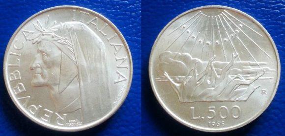 Monete 500 lire in argento: caravelle, Dante e Unità di Italia, quanto valgono