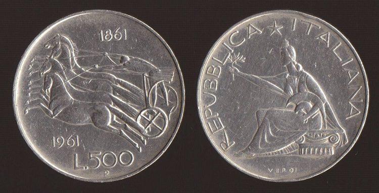 500 lire unità d'italia