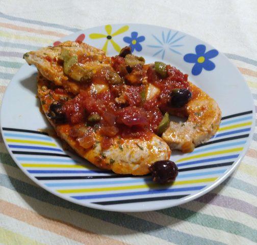 Pesce spada alla mediterranea, ricetta golosa per 2 persone