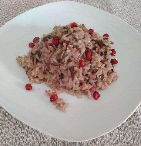 Risotto al radicchio e melagrana ricetta delicata per 5 persone