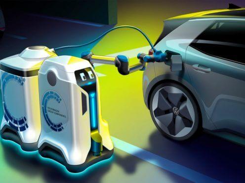 Il robot mobile Volkswagen rivoluzionerà la ricarica delle auto elettriche