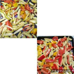 preparazione e cottura peperoni e patate