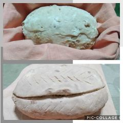 tagli in superficie pane con i ciccioli