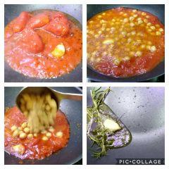 cottura ceci nel pomodoro