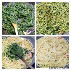 cottura spaghetti con gamberi