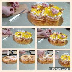 farcitura e decorazione cream tart salata