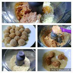 preparazione delle polpette al curry