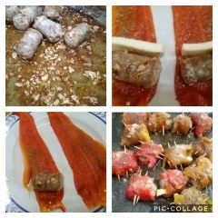 preparazione involtini di peperoni